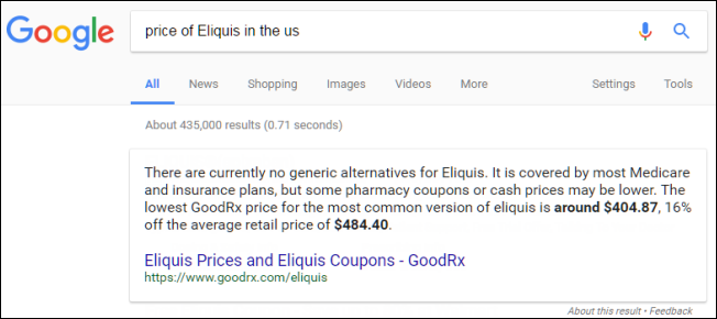 price-of-eliquis-in-the-us